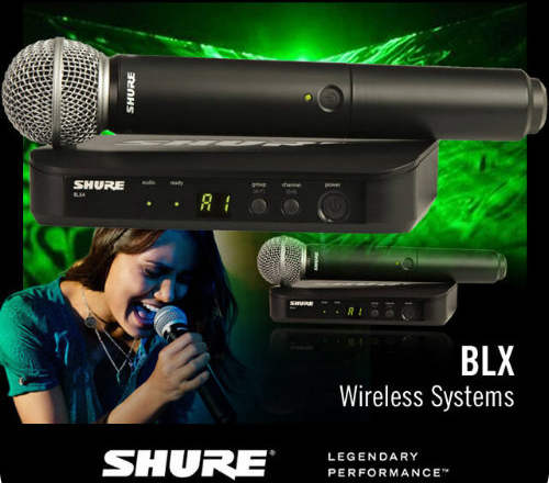 מותג חדש מיקרופון אלחוטי - Shure SM58/BLX4 RY-23